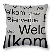 Welcome Wall Throw Pillow