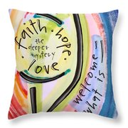 Welcome What Is Throw Pillow