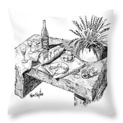 Welcoming At Le Coin Retro In Le Thor France Throw Pillow