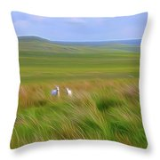 Welcoming Committee-dm Throw Pillow