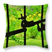 Welded Garden Gate Throw Pillow
