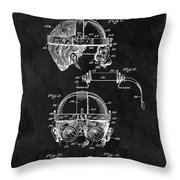 Welding Goggles Patent Throw Pillow