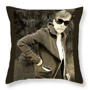 Well Are You Coming Throw Pillow