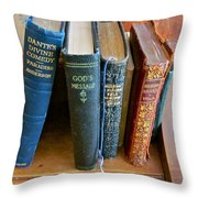 Well Worn ... Well Read ... Well ... Throw Pillow by Gwyn Newcombe