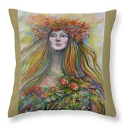 Welcome To Autumn Throw Pillow