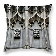Wellesley College Tower Court Detail Throw Pillow