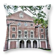 Wellesley College Walsh Alumni Hall Throw Pillow