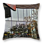 Wellesley College Wang Campus Center Detail Throw Pillow