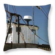 Wellfleet Fishing Boat Cape Cod Massachusetts Throw Pillow