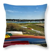 Wellfleet Harbor Cape Cod Throw Pillow