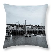 Wellfleet Harbor Throw Pillow