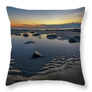 Wells Beach Solitude Throw Pillow