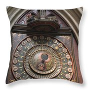 Wells Cathedral Astronomical Clock Throw Pillow