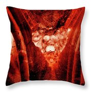 Wells Cathedral Gargoyles Color Negative A Throw Pillow