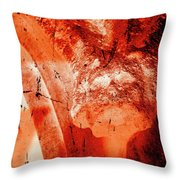 Wells Cathedral Gargoyles Color Negative B Throw Pillow