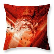 Wells Cathedral Gargoyles Color Negative D Throw Pillow