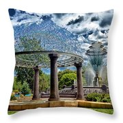 Wellspring Fountain - Council Bluffs Iowa Throw Pillow
