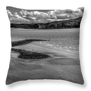 Welsh Coastal View From The Great Orme  Throw Pillow