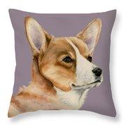 Welsh Corgi Dog Painting Throw Pillow