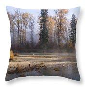 Wenatchee River, Fall 2015 Throw Pillow