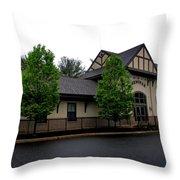 Wenonah- Borough Hall Throw Pillow