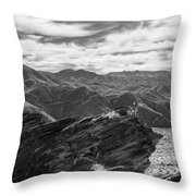 Were Andreas Meets Murray Bw 2 Throw Pillow
