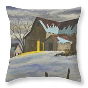 We're Home On The Farm Throw Pillow