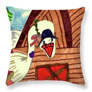 We're Late For Dinner Goose Throw Pillow