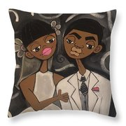 We're Married Throw Pillow