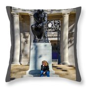 We're Thinking Together Throw Pillow