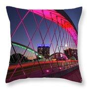 West 7th Street Bridge Throw Pillow