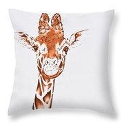 West African Giraffe Throw Pillow