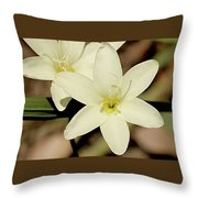 West Australian Wildflowers - Orchid 2 Throw Pillow