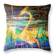 West Beach I Throw Pillow
