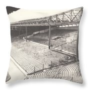West Bromwich Albion - The Hawthorns - Brummie Road End 1 - Bw - 1960s Throw Pillow