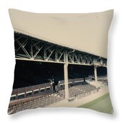 West Bromwich Albion - The Hawthorns - Halfords Lane West Stand 1 - 1970s Throw Pillow