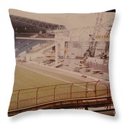 West Bromwich Albion - The Hawthorns - Halfords Lane West Stand 2 - Construction - 1980 Throw Pillow
