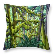 West Coast Landscape Painting Throw Pillow