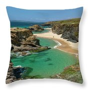 West Coast Of Portugal Throw Pillow