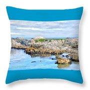 West Coast Seascape 3 Throw Pillow