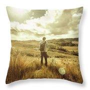 West Coast Tasmania Explorer Throw Pillow