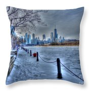 West From Navy Pier Throw Pillow