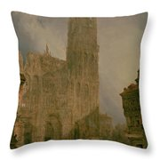 West Front Of Notre Dame Throw Pillow