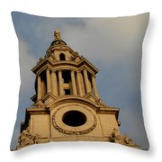 West Front Of St. Paul's Cathedral, London Throw Pillow