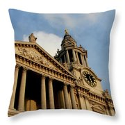 West Front Of St.paul's Cathedral, London Throw Pillow