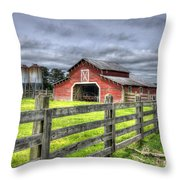 West Georgia Barn Throw Pillow
