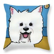 West Highland Terrier Throw Pillow by Leanne Wilkes