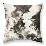 West Indies: Volcano Throw Pillow