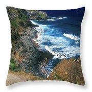 West Maui Coast Throw Pillow