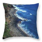 West Maui Coast Overview Throw Pillow